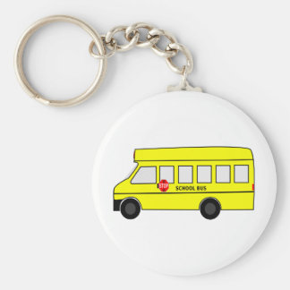 Short Bus Basic Round Button Key Ring