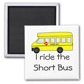 Short Bus Square Magnet