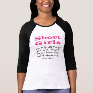 Short Girls Raglan Qtr Sleeves Tee Shirt