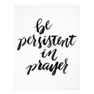 Short Quotes: Be Persistent In Prayer 21.5 Cm X 28 Cm Flyer