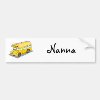 Short School Bus Car Bumper Sticker