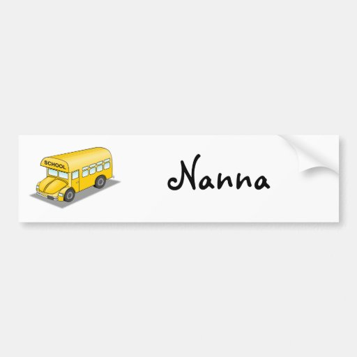 Short School Bus Bumper Stickers