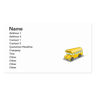 Short School Bus Business Cards