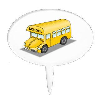 Short School Bus Cake Picks