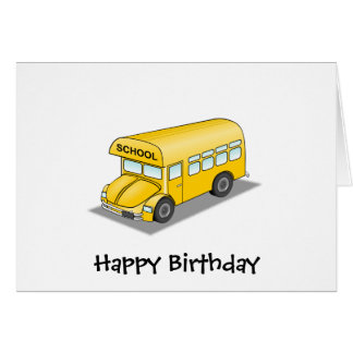 Short School Bus Greeting Card