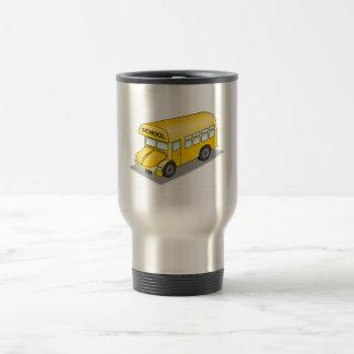 Short School Bus 15 Oz Stainless Steel Travel Mug