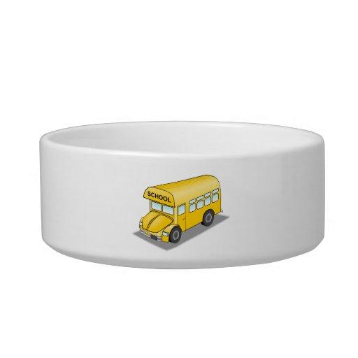 Short School Bus Cat Water Bowls