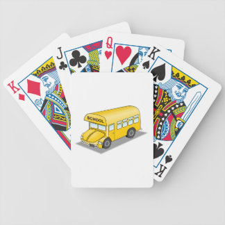 Short School Bus Playing Cards