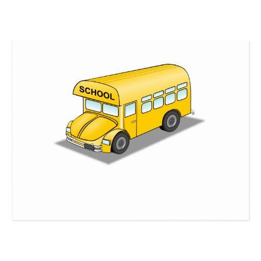 Short School Bus Postcard