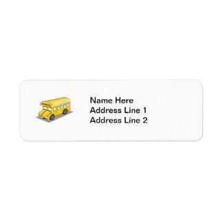 Short School Bus Return Address Label