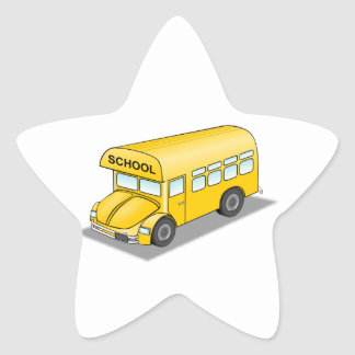 Short School Bus Star Sticker
