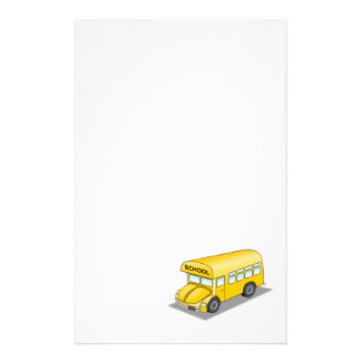 Short School Bus Personalized Stationery
