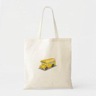 Short School Bus Tote Bags