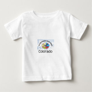 Short sleeve baby t-shirt, centre logo, mountains tee shirts