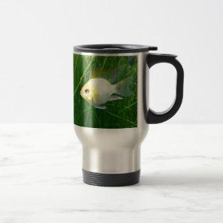 shortbodygoldenram_art1 stainless steel travel mug