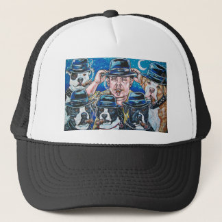Shorty and the pitbull gang trucker hat