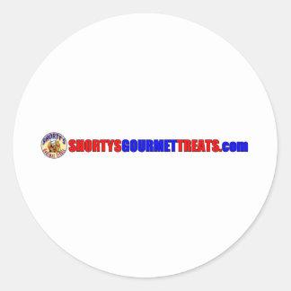 Shorty's Gourmet Treats Round Sticker