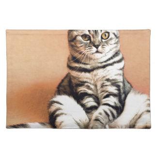Shotlanskogo Fold Cat Kitten Pets British Cat Placemat