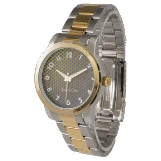 """Show unisex bracelet 2 tons """"Gold """" Watch"""