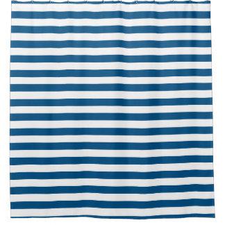 Shower Curtain - Snorkel Blue Summer Stripes