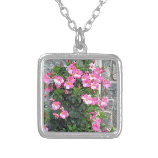 Shower Garland of FLOWERS pink white stripe gifts Pendant