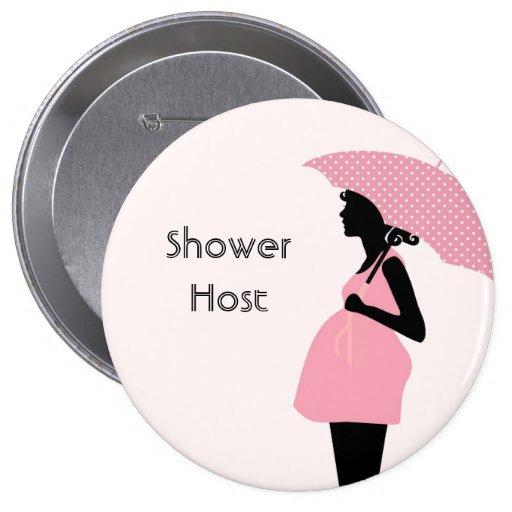 """""""Shower Host"""" Baby Shower Button"""