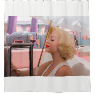 Shower in the classics shower curtain