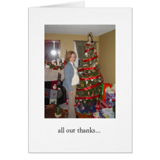 Shower Thank You Greeting Card