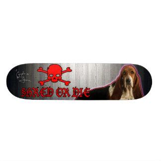 SHRED or Die Basset Hound Deck Custom Skateboard