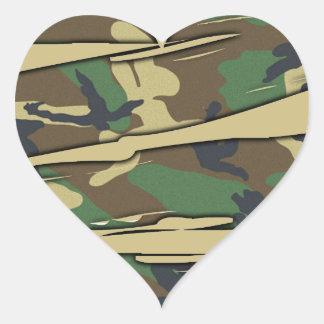 Shredded Camo Heart Heart Sticker