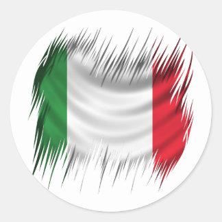 Shredders Italy Flag Round Sticker