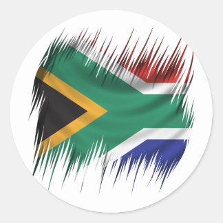 Shredders South Africa Flag Round Sticker