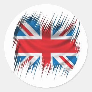 Shredders Union Jack Flag Round Sticker