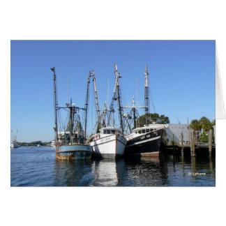 Shrimp Boats--thank you Card