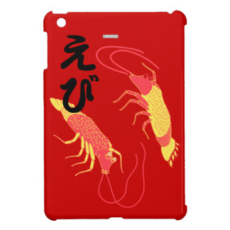 shrimp illustration EBI Japanese iPad Mini Case