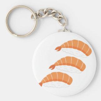 Shrimp Sushi Basic Round Button Key Ring