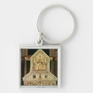 Shrine Containing the Relics Silver-Colored Square Key Ring