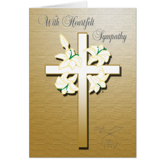 Shriners Sympathy Card