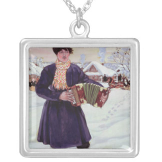 Shrove-tide, 1916 silver plated necklace