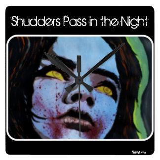 'Shudders Pass in the Night' Wall Clock