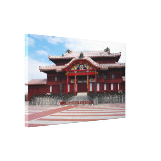 Shuri Castle in Okinawa, Japan Stretched Canvas Print