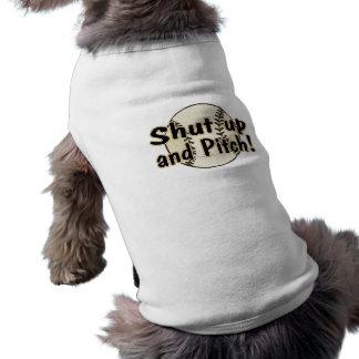 Shut Up And Pitch Sleeveless Dog Shirt