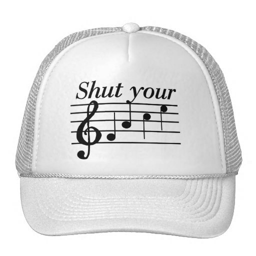 Shut your f-a-c-e T-shirts and Gifts. Mesh Hats