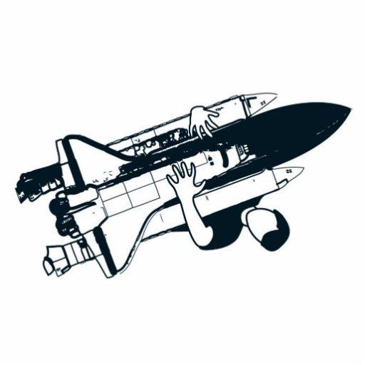 Shuttle Hugger Hugging Logo Acrylic Cut Out