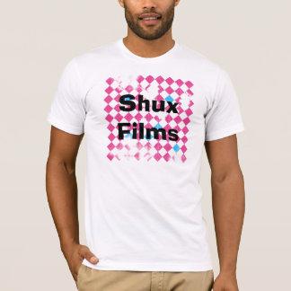 ShuxFilmsBackgroundFINAL, Shux Films T-Shirt