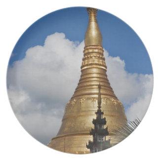 Shwedagon Pagoda, Yangon, Myanmar Party Plate