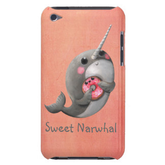 Shy Narwhal with Donut Barely There iPod Cases