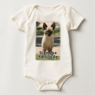 Siamese #Attitude Baby Bodysuit