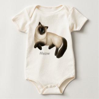 Siamese Cat Infant One Piece Baby Bodysuit