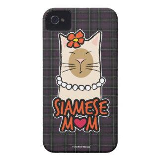 Siamese Mom Cat Lover iPhone 4 Case-Mate Case